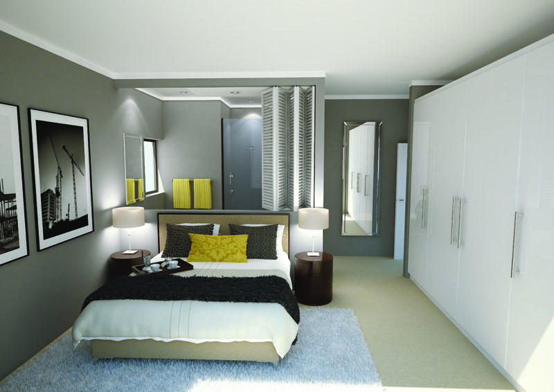 The Foundry Bedroom 3D Render
