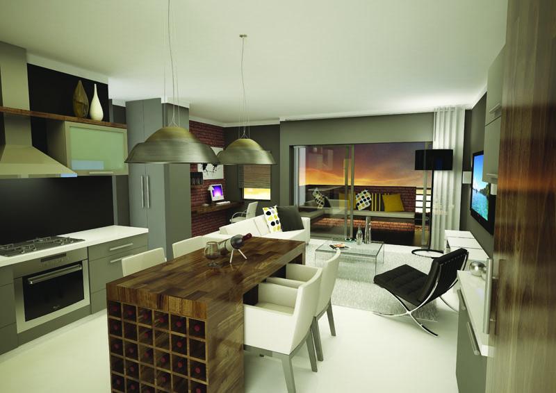 The Foundry Livingroom 3D Render